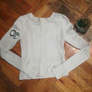 H&M white sweater